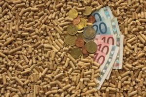 Pelletpresse pellets mit Geld